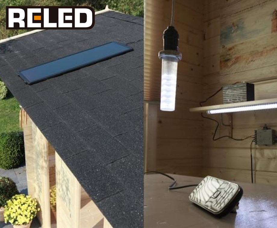 Verlichting Voor Garage : Reled solar zonnepaneel led verlichting set ideaal voor garage of