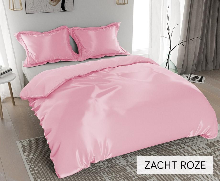 Licht Roze Dekbedovertrek : Nightlife glanzende satijnen dekbedovertrekken verkrijgbaar in