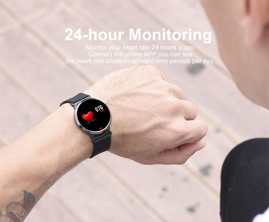 Parya Aluminium Smart Watch HD - Met Hartslagmonitor, Notificaties En Nog Veel Meer!