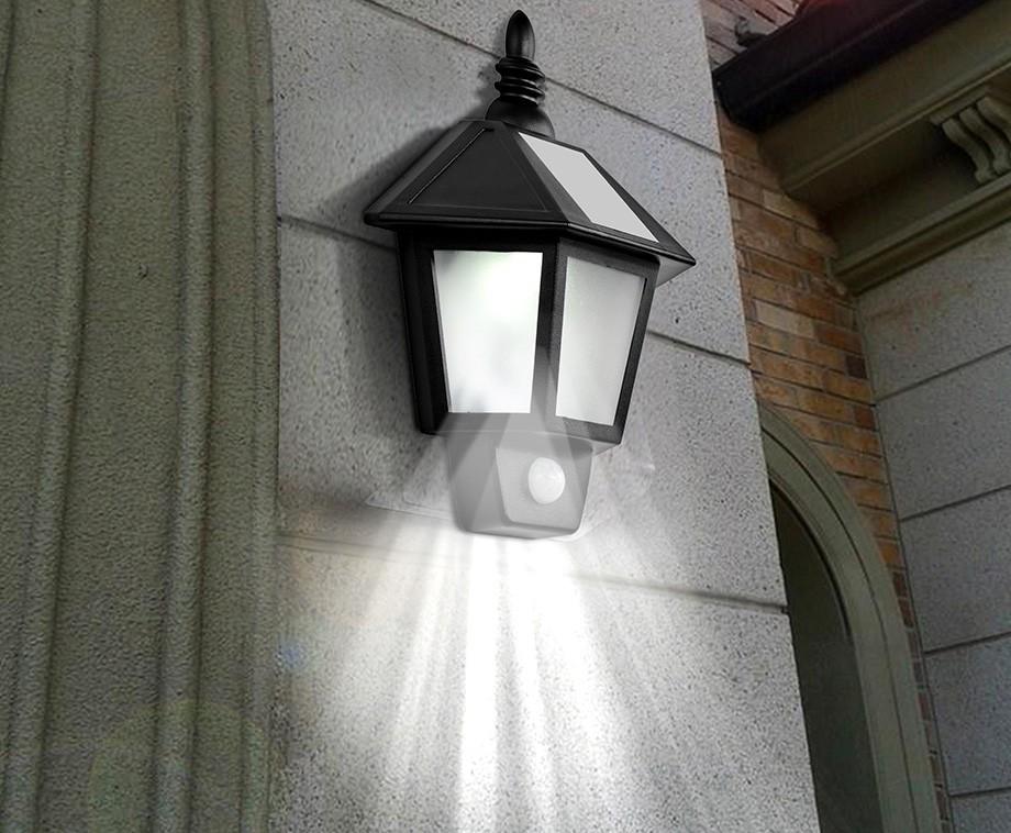 Solar led buitenlamp met bewegingssensor unieke nostalgische