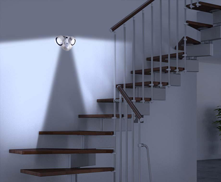 Sensor LED Lamp Met 2 Spotjes - Draadloos En Voorzien Van Bewegingssensor!