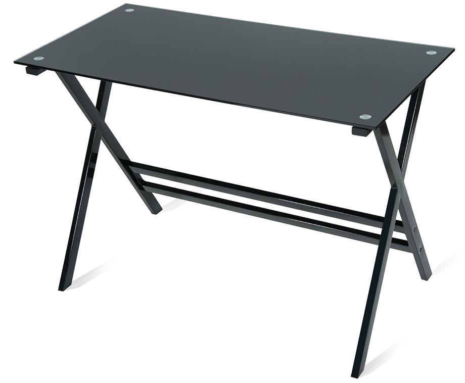 Stijlvol zwart glazen bureau fraai en stevig design voor ieder