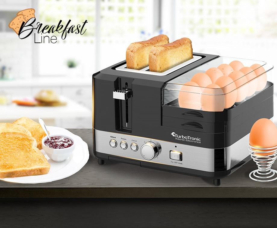 TurboTronic Alles-In-1 Ontbijtstation - Bereid Snel Een Heerlijk Ontbijt!