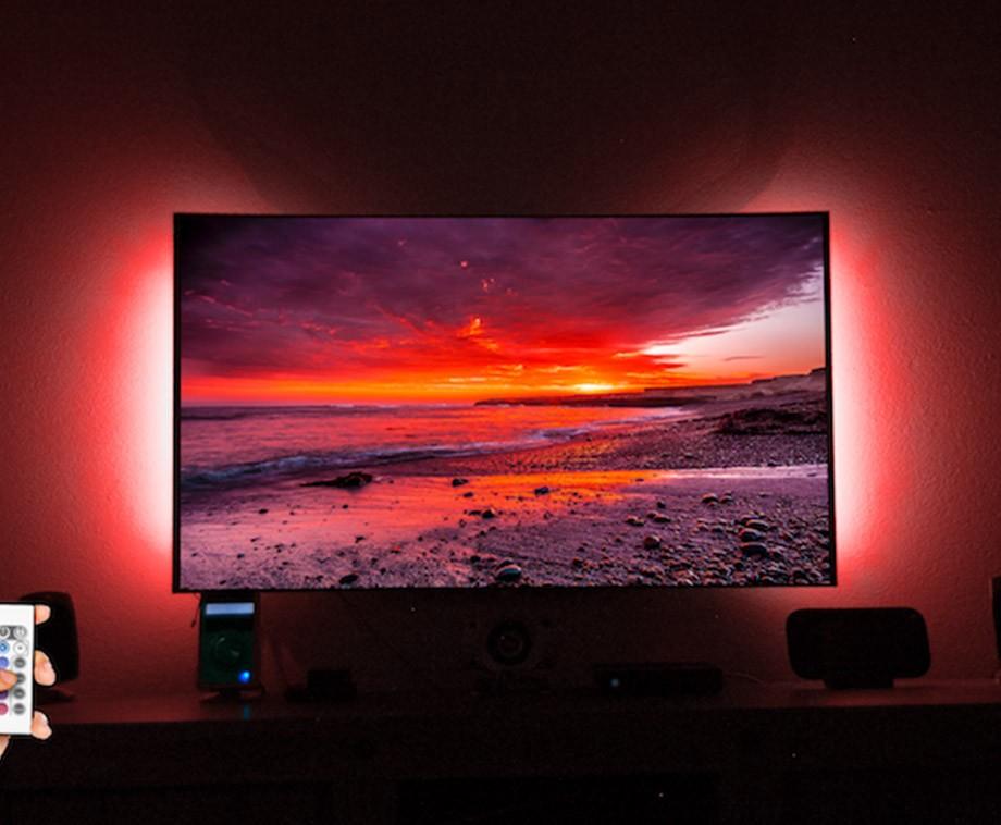 2 LED TV Strips Met Afstandsbediening - De Ultieme Sfeerverlichting Voor Achter De TV!