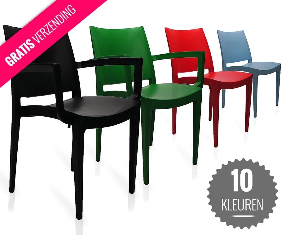 Onverwoestbare Designer Tuinstoelen Met Of Zonder Armleuning   Verkrijgbaar In 10 Kleuren!