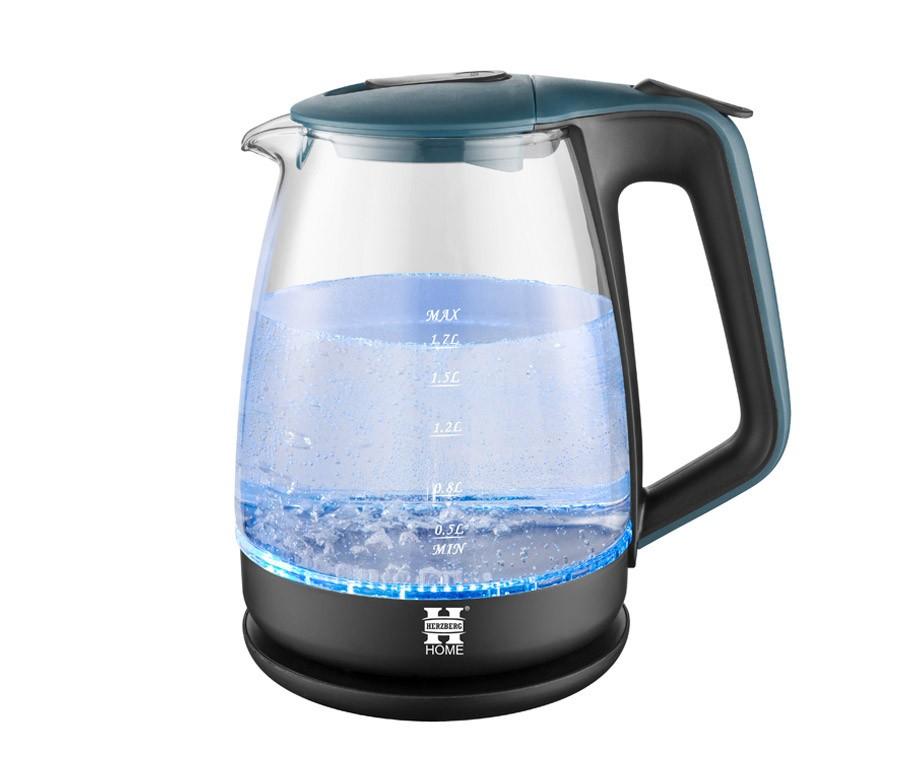 Glazen waterkoker van herzberg met led verlichting 1 7 for Waterkoker led verlichting