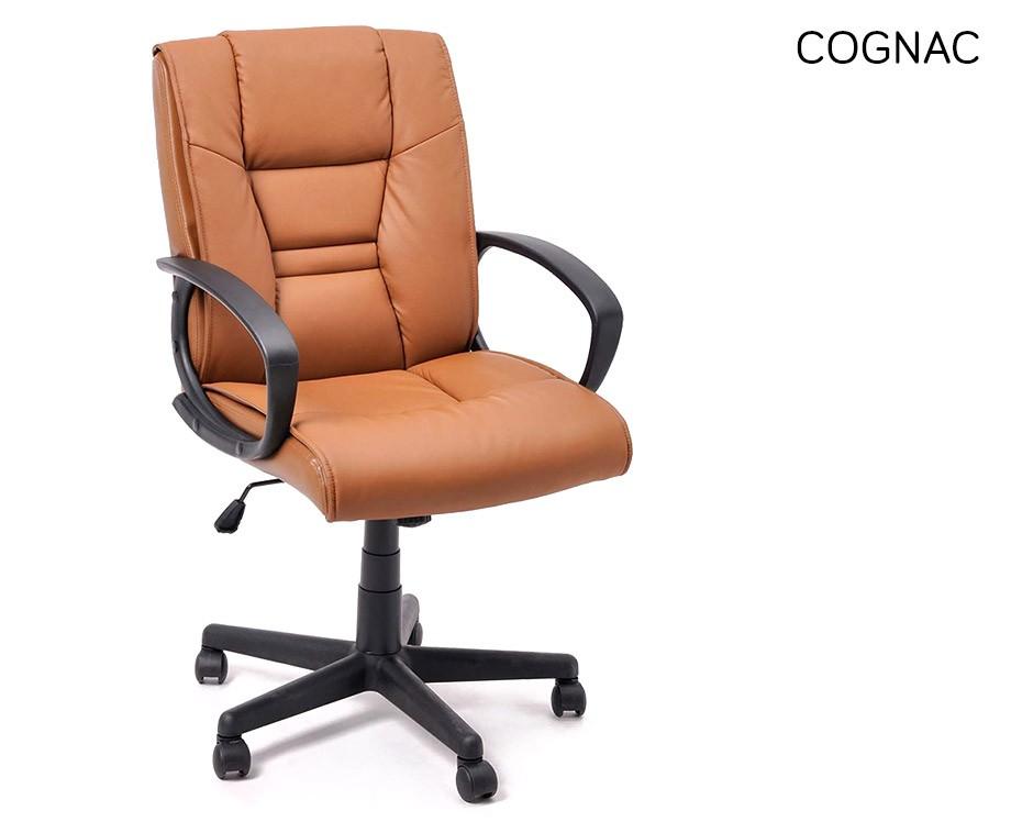 Cognac Leren Bureaustoel.Stijlvolle En Comfortabele Bureaustoel Verkrijgbaar In 3 Kleuren
