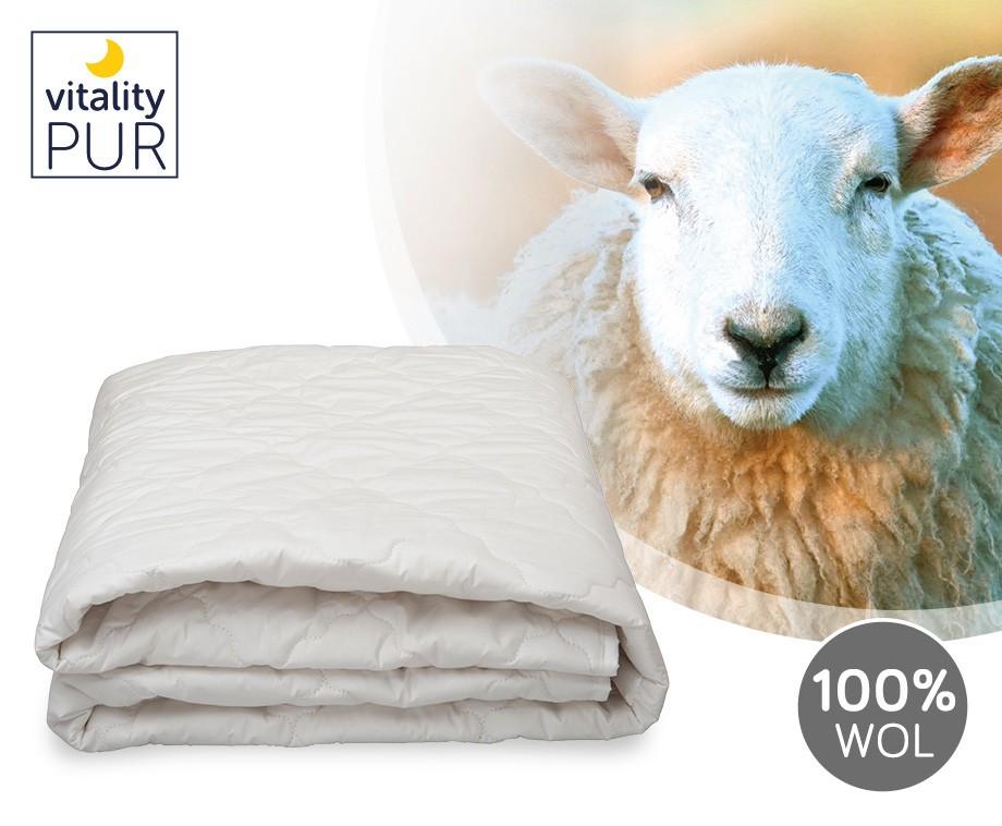 Vitality Pur Wollen Topper - Heerlijk Warm Bij Koude Nachten!