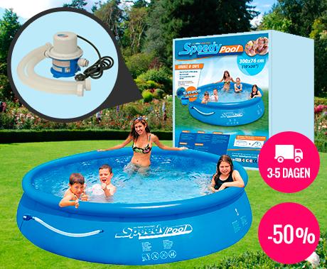Zwembad met pomp 300 x 76 cm dagelijks topaanbiedingen for Zwembad rechthoekig met pomp