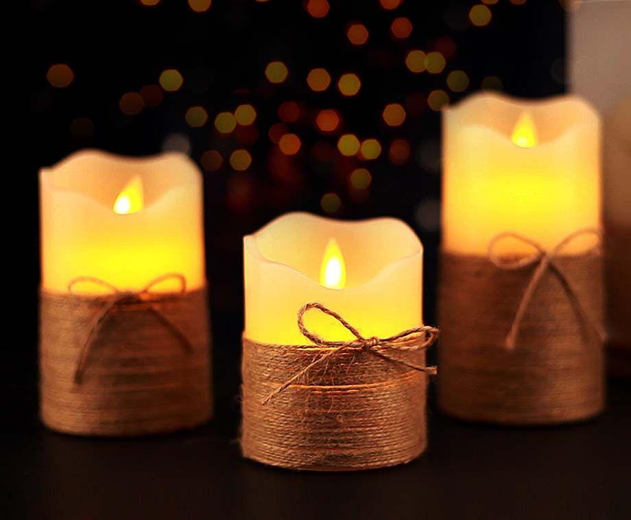 Set Van 3 Luxe LED Kaarsen - Sfeervol, Makkelijk En Veilig! ...