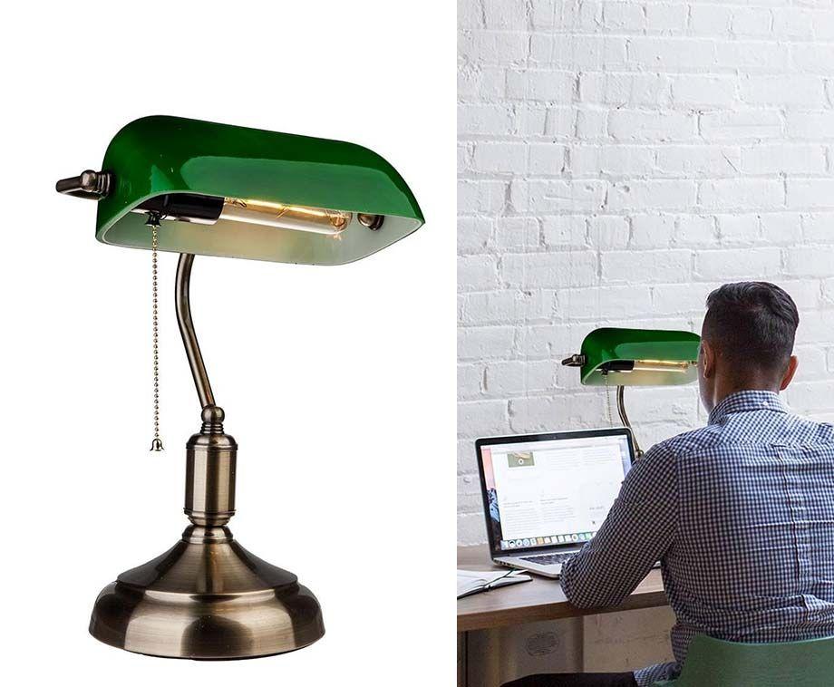 Retro Bankierslamp - Authentieke Eyecatcher In Elke Kamer! ...