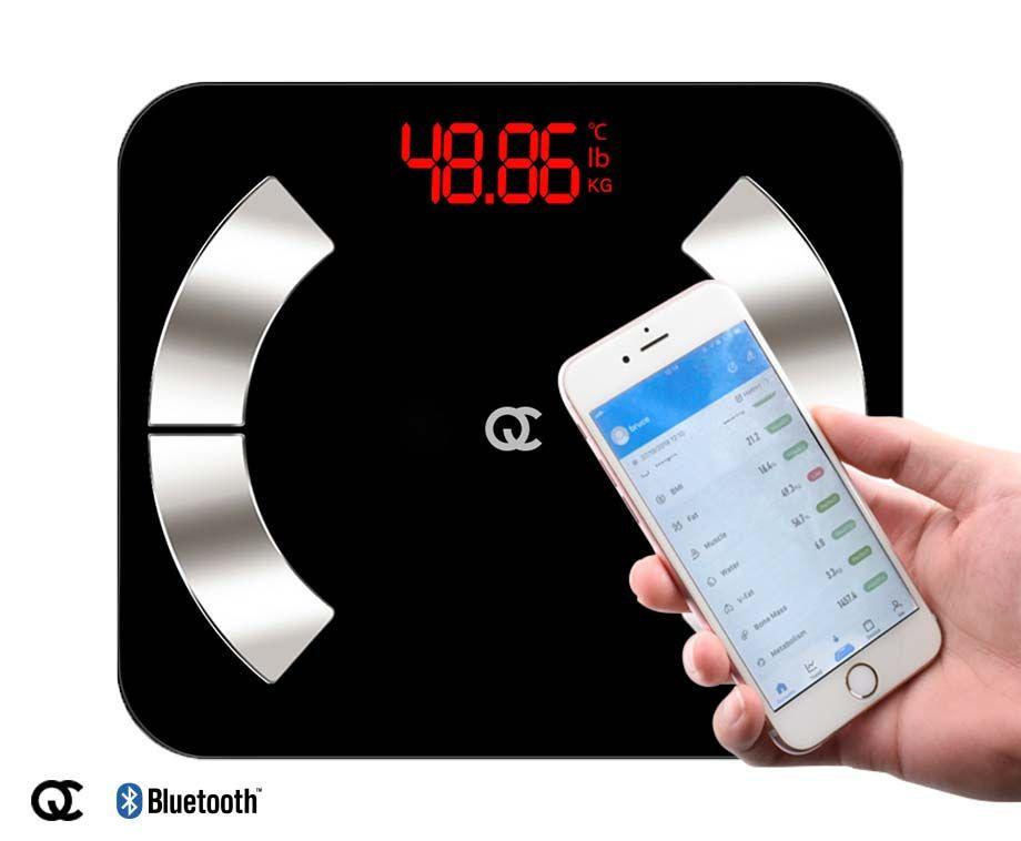 Flinq Slimme Weegschaal - Meet o.a. Gewicht, BMI & Lichaamsleeftijd! ...