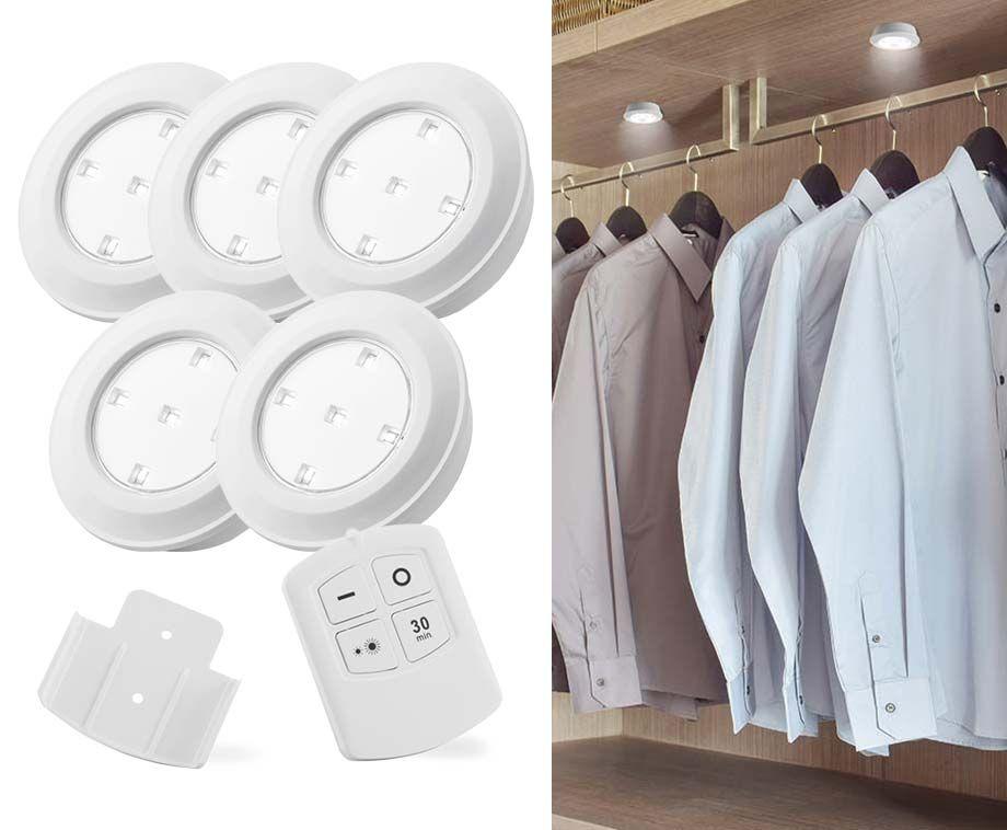 5- Of 10-Pack Draadloze LED Spots - Met 2 Afstandsbedieningen & Touchfuncti ...