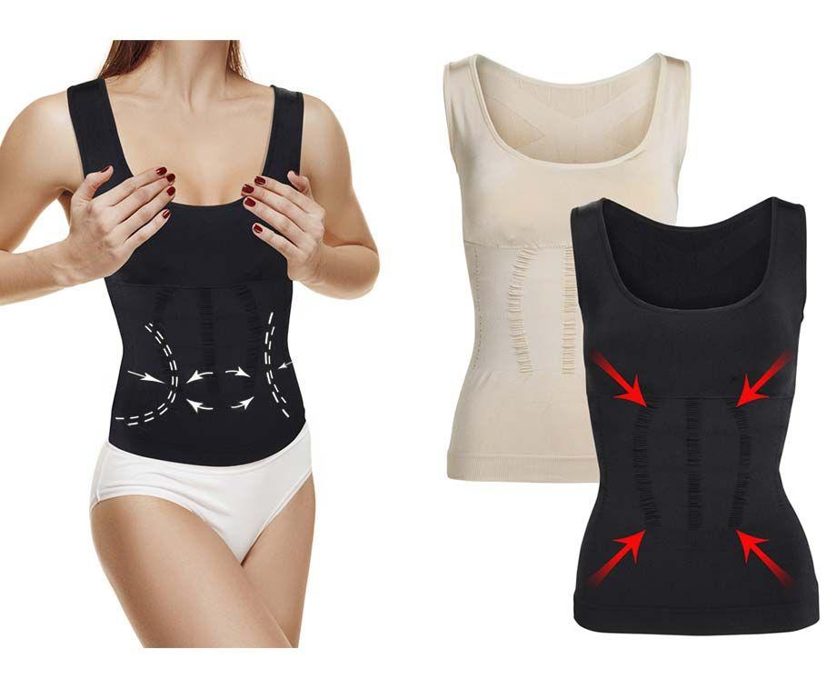 Slim Shirt Vrouwen - Lijk Direct Tot 10 Kilo Lichter! ...