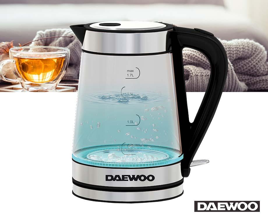 Daewoo Draadloze Waterkoker - Met Glazen Kan!