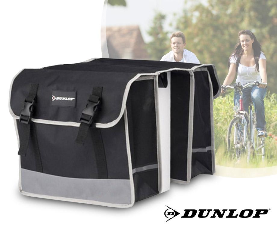 Dunlop Dubbele Fietstas - Ideaal Voor Boodschappen En Fietsuitjes!