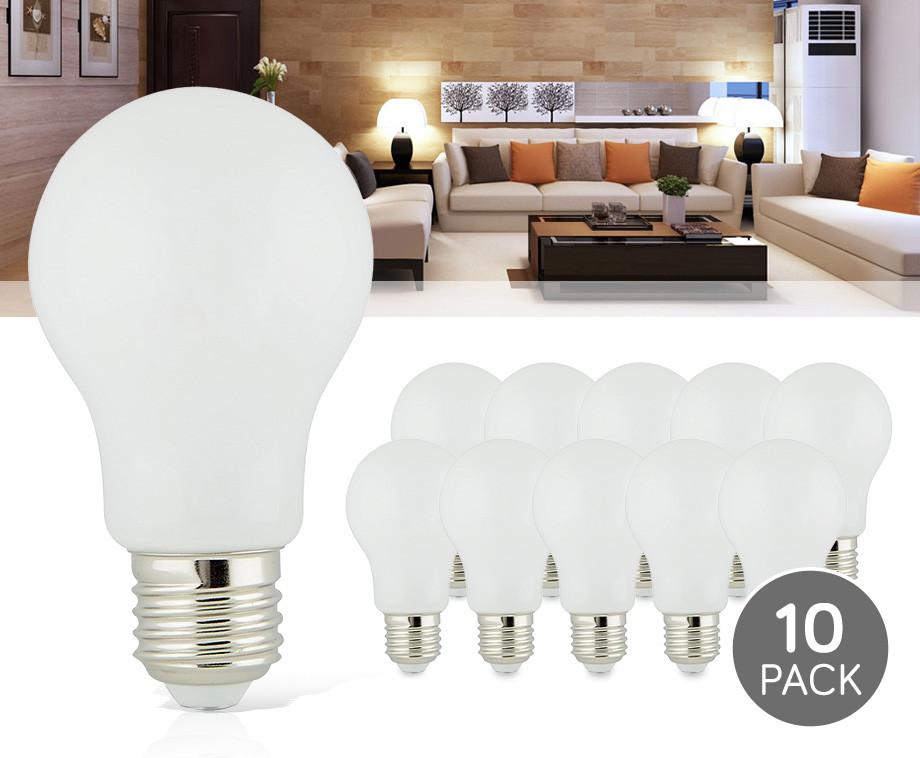 10-Pack E27 360° LED Lampen - Geeft Sfeervol Warm Wit Licht!