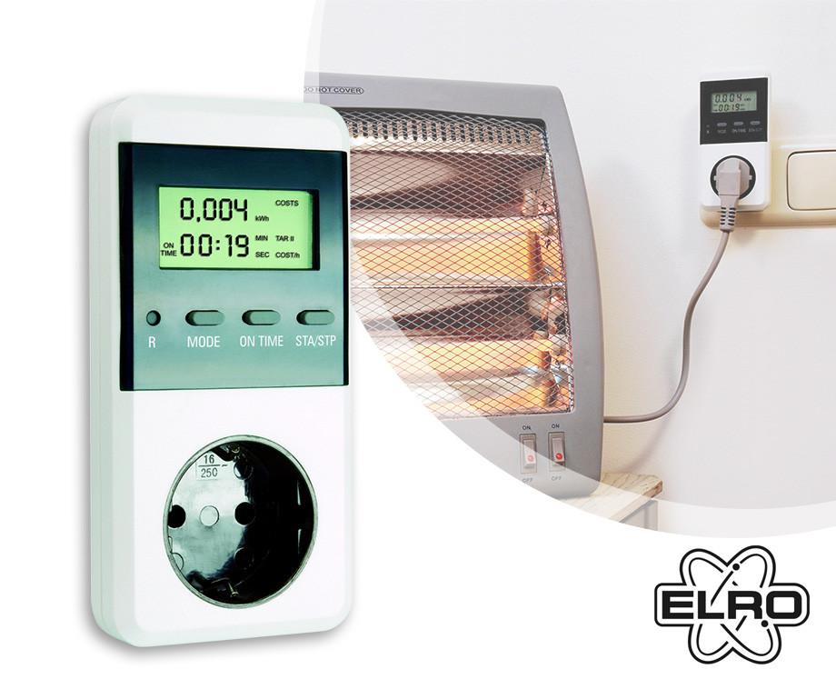 Elro Plug-In Verbruiksmeter - Zie In Eén Oogopslag Energiekosten!