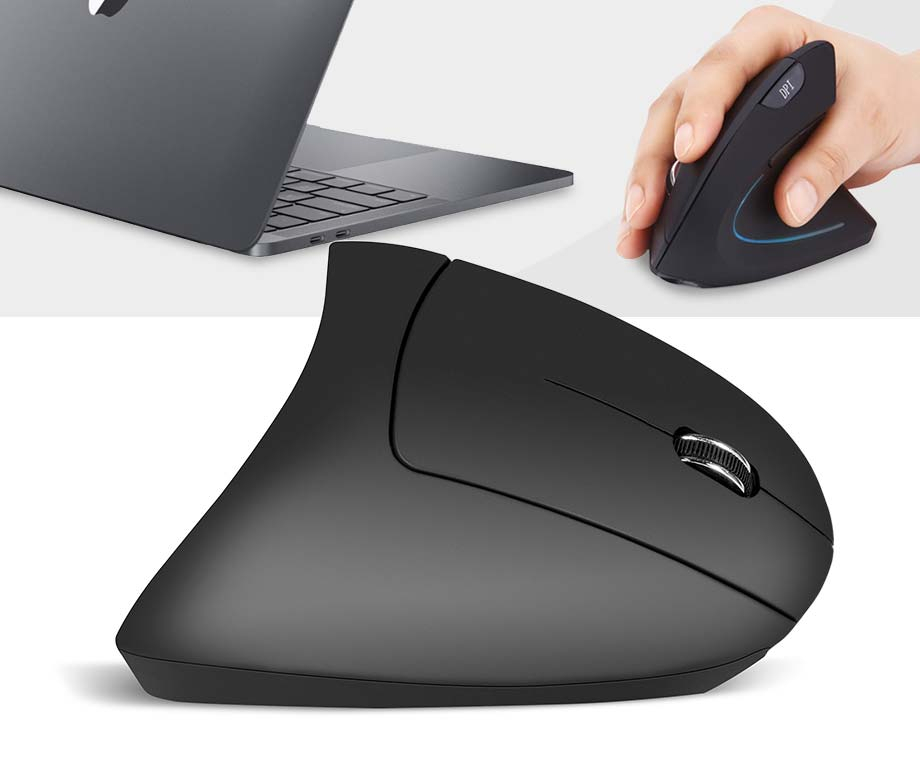 Ergonomische Bluetooth Muis - Voor Links- En Rechtshandigen!