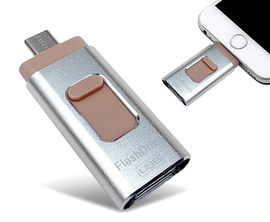 4-In-1 Flash Drive - Met Aansluiting Voor Alle Telefoons, Tablets,...