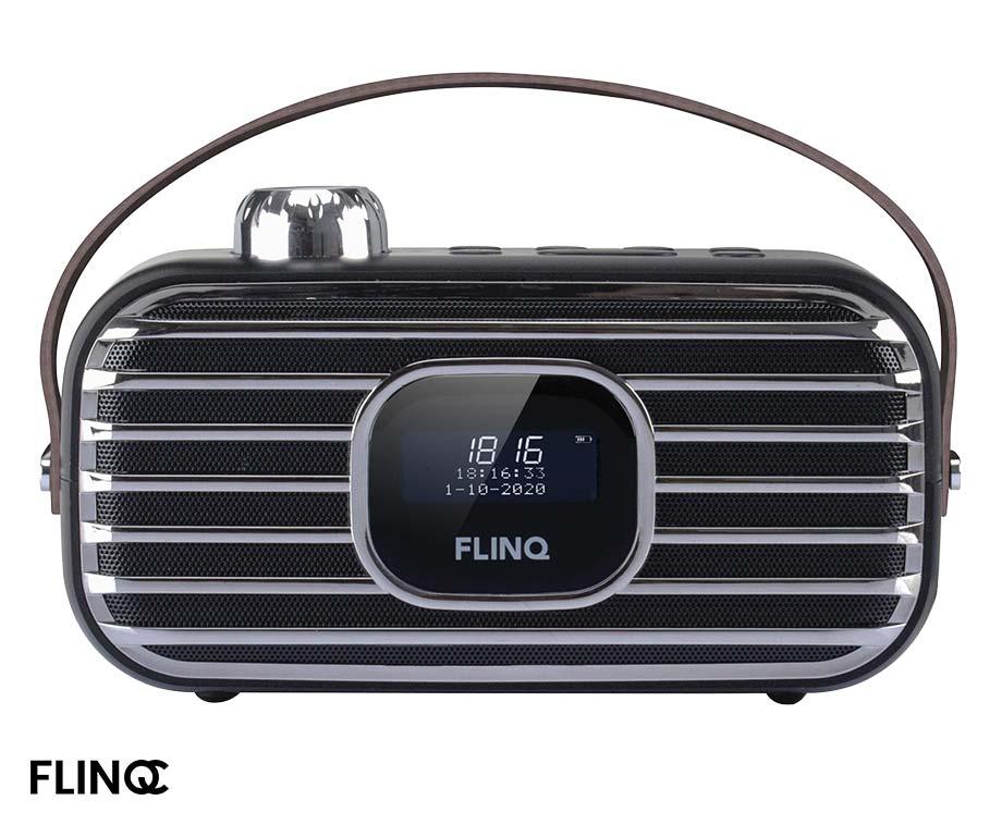 Flinq DAB+ Radio - Retro Model Met Modern Geluid!