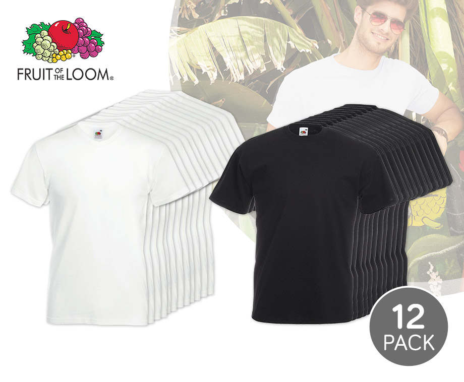 12-pack T-shirts Van Fruit Of The Loom - 100% Katoen!