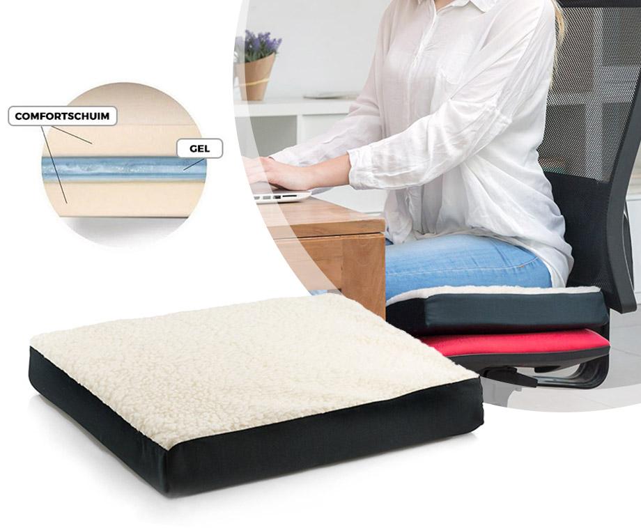 InnovaGoods Fushion Gelkussen- Ideaal Voor Autostoel, Rolstoel Of...