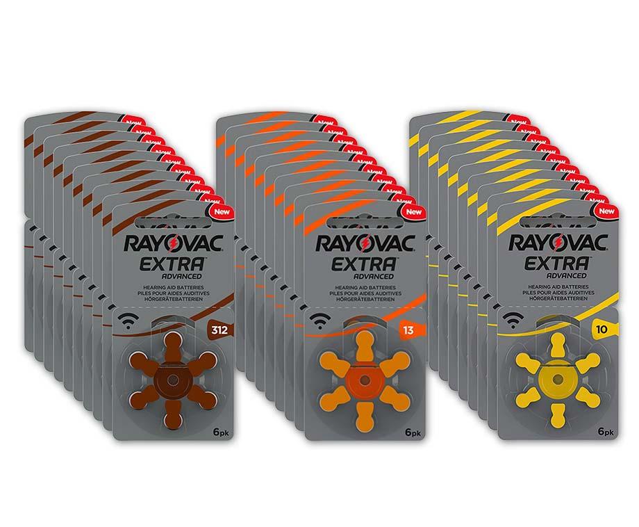 Foto 60-Pack Rayovac Gehoorapparaat Batterijen - Keuze uit Type 10, 13...