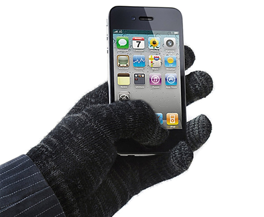 Avanca Touchscreen Handschoenen - Grijs/Zwart
