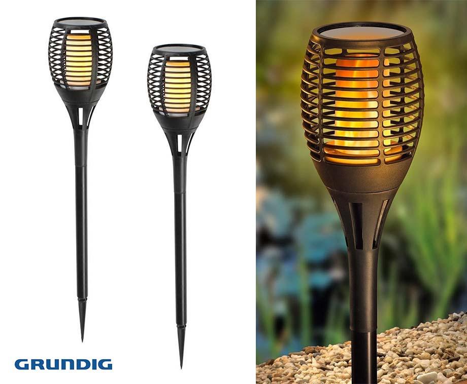 Grundig Solar Light Flame - Vandaag 1+1 GRATIS!