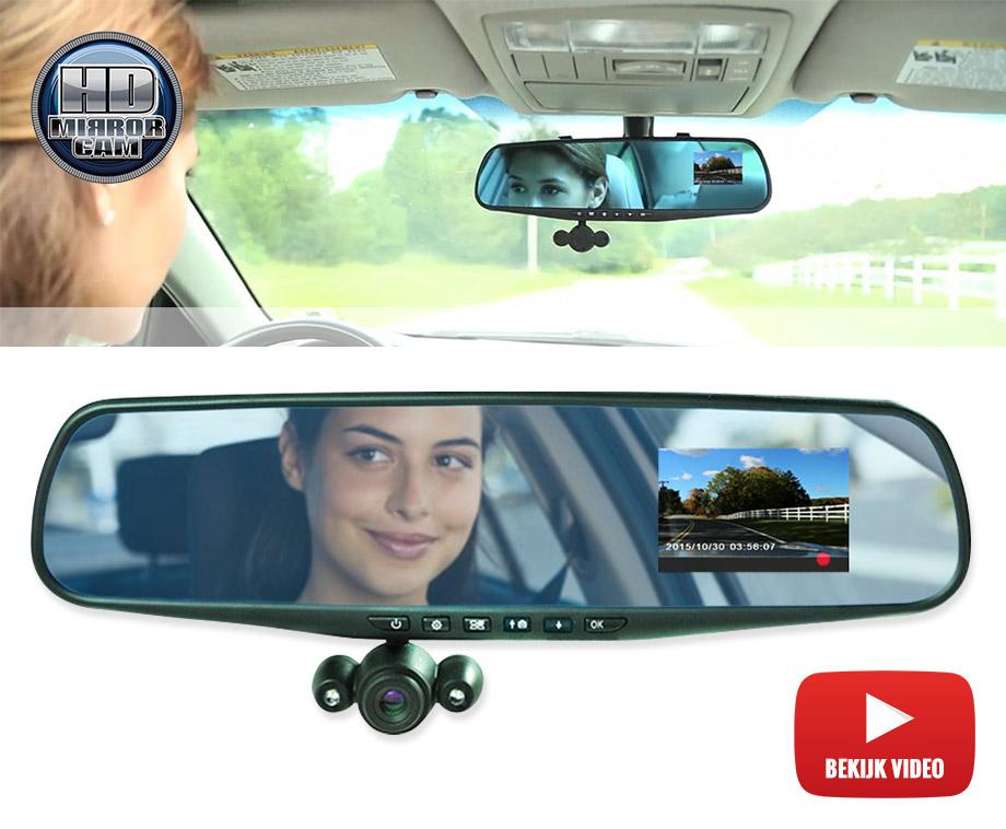 HD Mirror Cam - Binnen Spiegel Met HD Camera En Display!