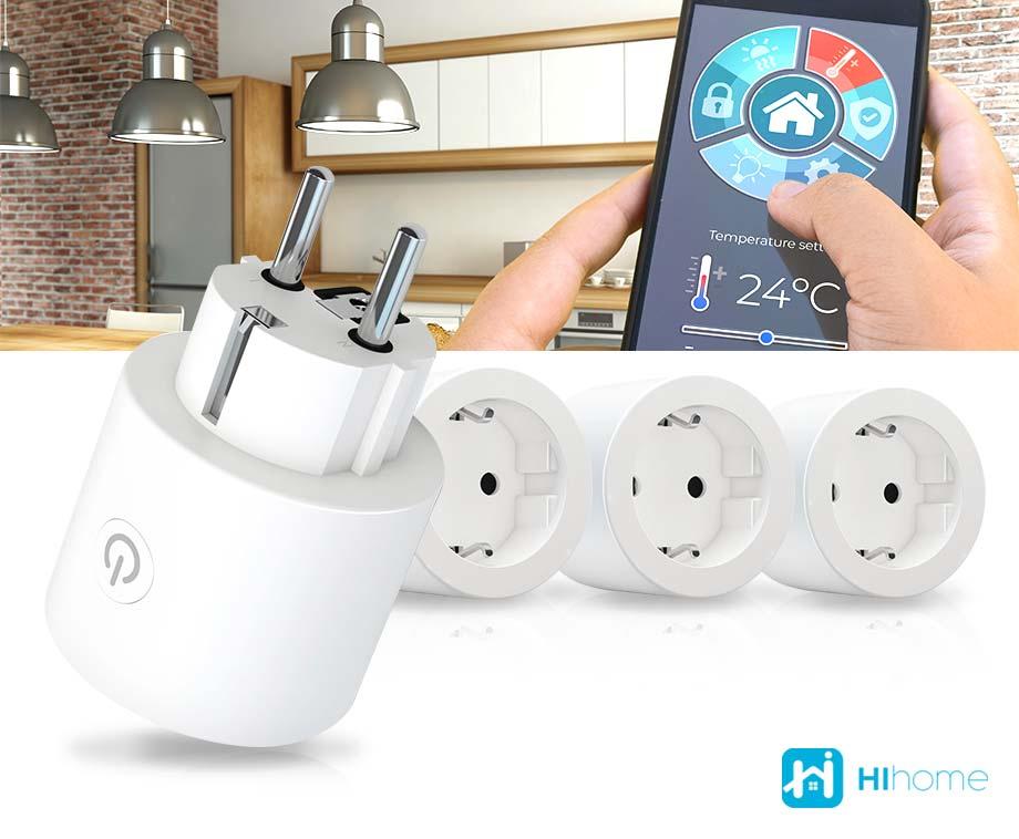 Hihome Smart WiFi Plug Met Energiemonitor - Vandaag 2+2 GRATIS!