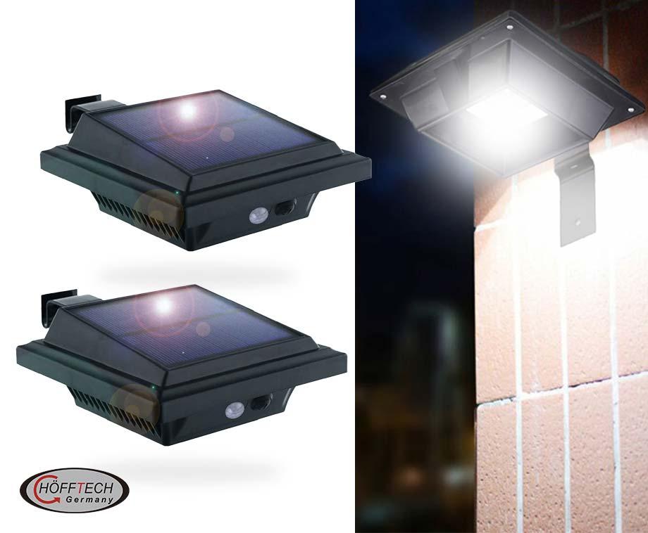 Hofftech Wandlamp Solar LED Met Sensor - Vandaag 1+1 GRATIS!