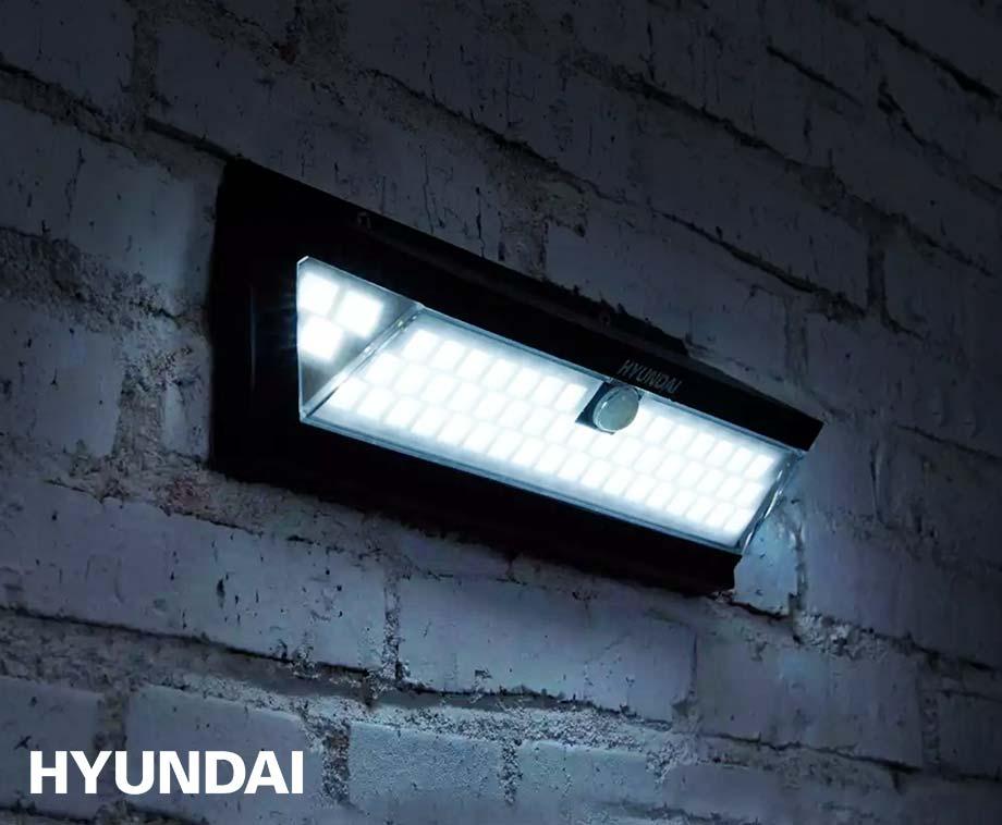 Hyundai Sensor Prisma Buitenlamp - Met XL Zonnepaneel En 55 SMD...