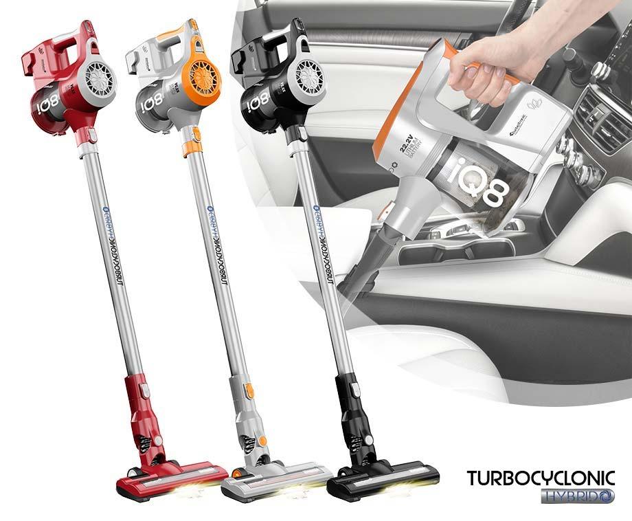 Dagaanbieding - TurboTronic iQ8 Draadloze Steelstofzuiger - Verkrijgbaar In 3 Kleuren! dagelijkse koopjes