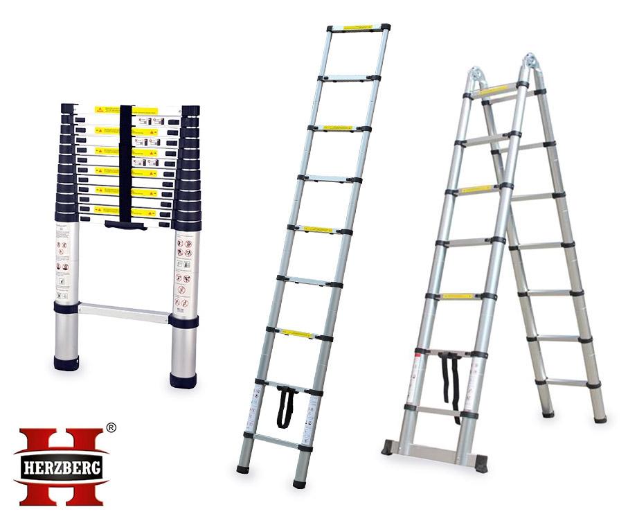 Dagaanbieding - Herzberg-Telescopische-Ladders-In-4-Maten-Overal-Gemakkelijk-Mee... dagelijkse koopjes