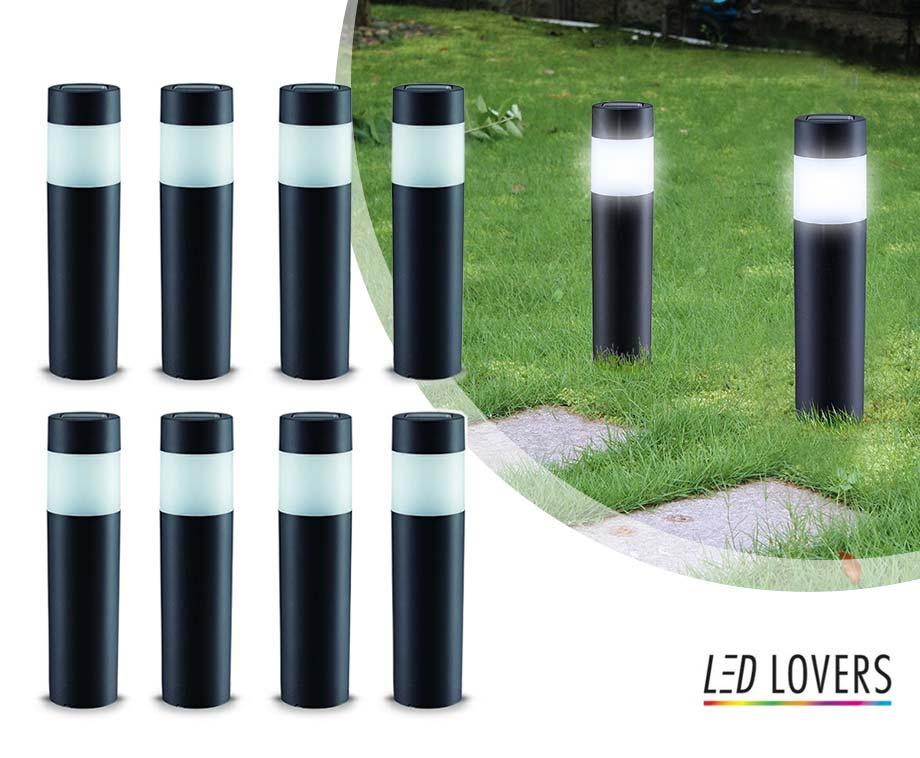 LED Lovers Solar Tuinlampen - Vandaag 4+4 GRATIS!