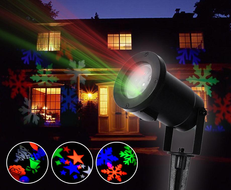 Led projector met bewegende projecties versier het huis in