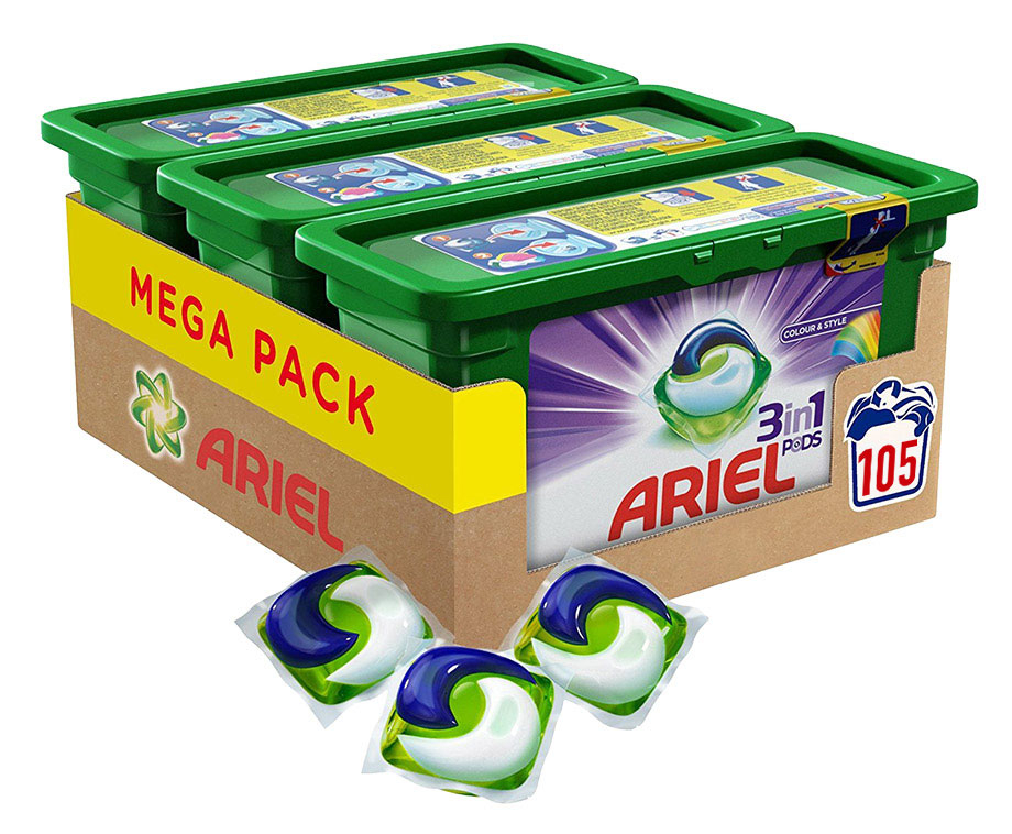 MEGA PACK Ariel 3-In-1 Pods - Keuze Uit Color Of Regular!