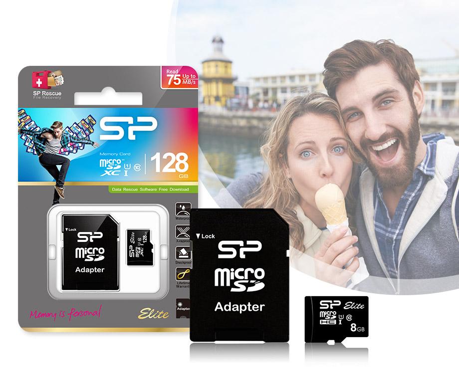 Silicon Power Elite Class 10 Micro SD Kaart - Tot 128GB Opslag!