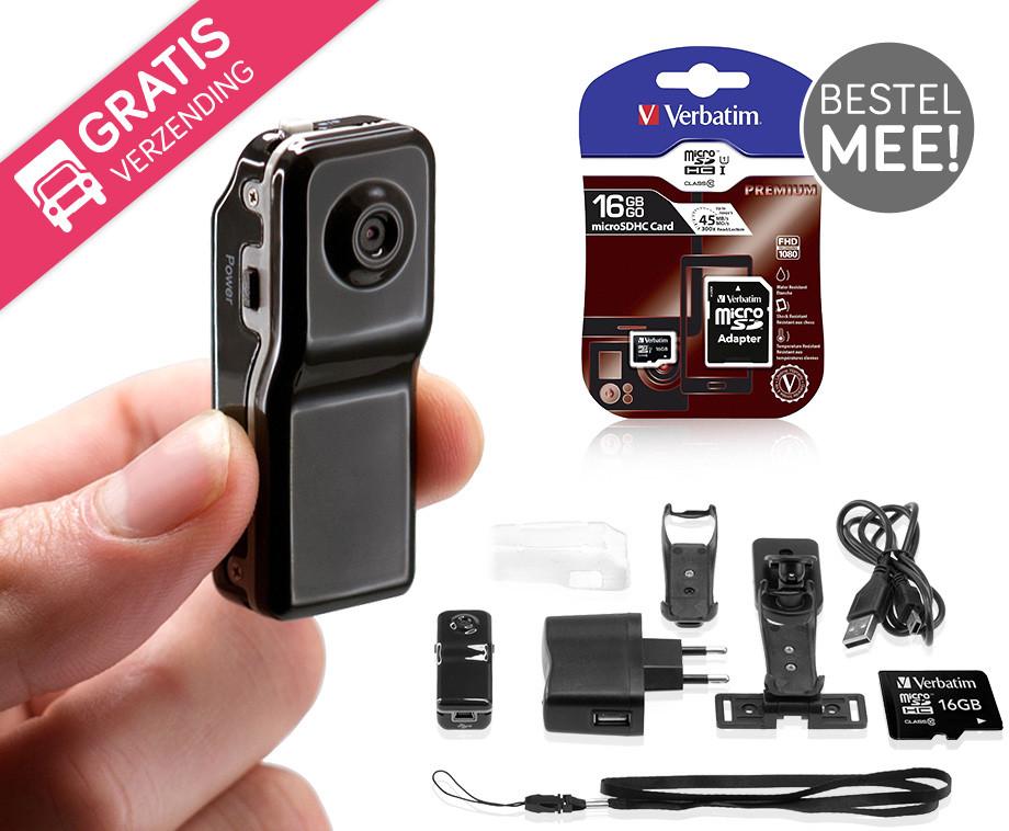 Mini DV Pro Spy Camera - Een Camera Zo Klein Als Je Duim!