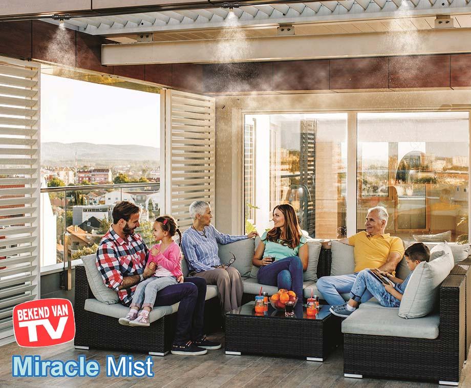 Miracle Mist Vernevelingssysteem - Heerlijke Verkoeling Tijdens... - Voordeelvanger
