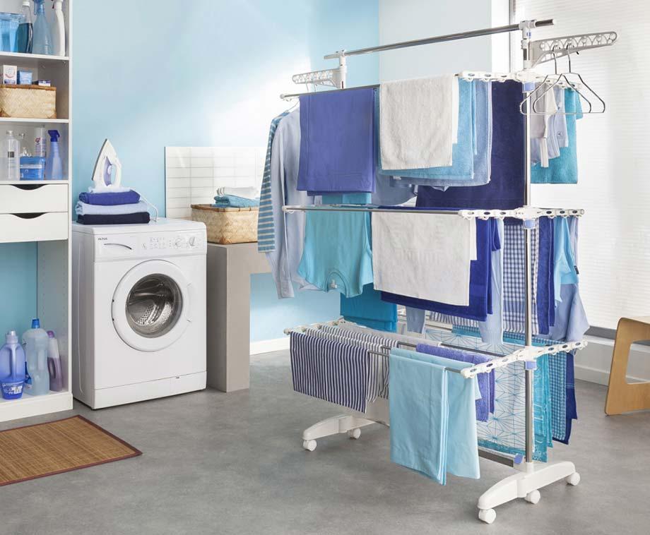 Inklapbare Wasrekken - Nooit Meer Ruimtegebrek Voor Je Schone Was!