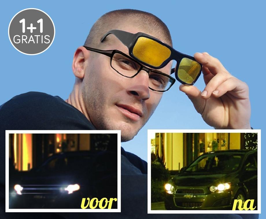 Night Vision Nachtbril Deluxe Voor Mannen En Vrouwen 1+1 GRATIS!