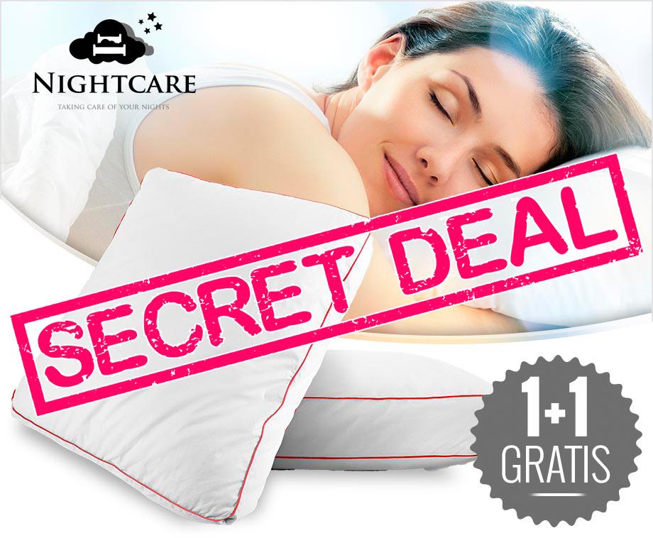 Nightcare Hoofdkussens Met Unieke Holle Vezelvulling   1+1 GRATIS aanbieding Voordeelvanger