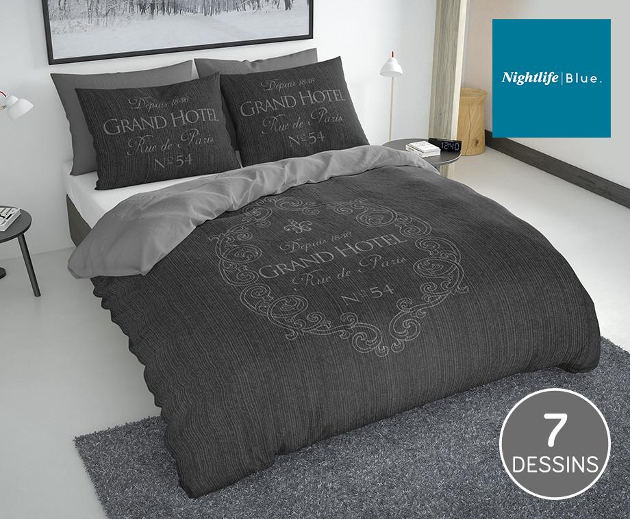 Nightlife Blue Dekbedovertrekken Van 100% Zacht Percal Katoen - 7 Verschillende
