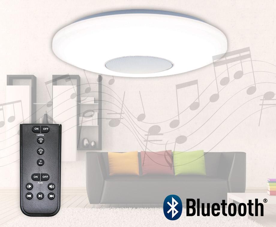 LED Dimbare Plafondlamp Met Draadloze Bluetooth Speaker!