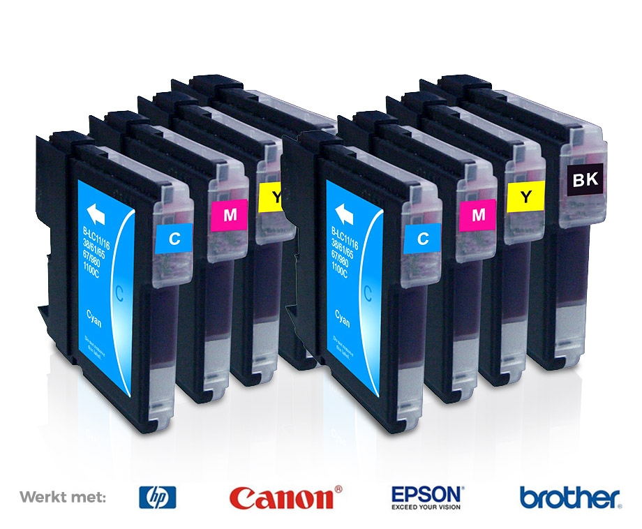 1+1 SET GRATIS: Cartridges Voor HP, Epson, Brother & Canon Printers! - Voordeelvanger