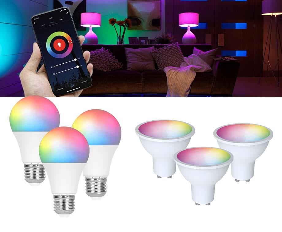 3-Pack Slimme Lampen RGB - Bedien Je Lampen Met Een App!