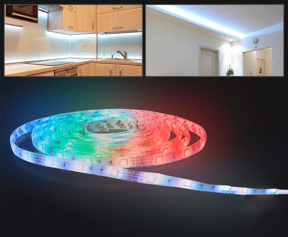 Foto 5 Meter RGB Multicolor LED Strip - Inclusief Afstandsbediening!